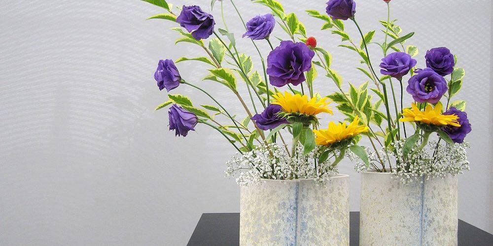 Vases et composition ikébana